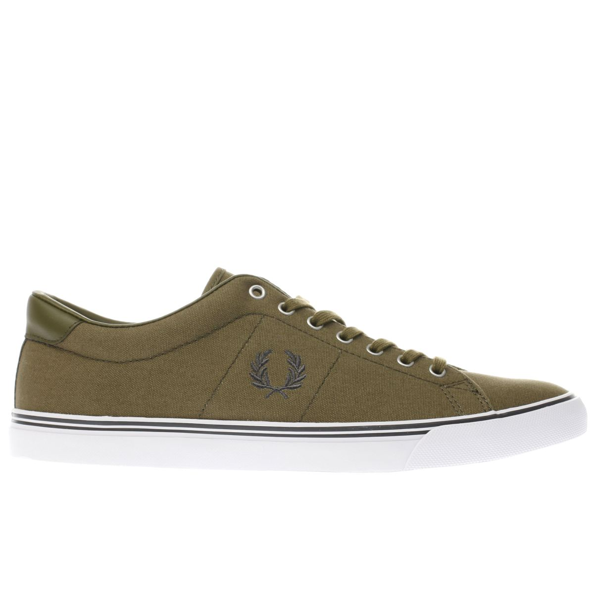 fred perry khaki underspin trainers