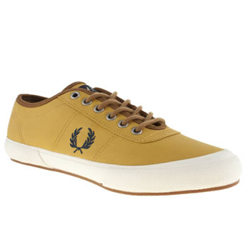 Fred Perry Yellow Woodford Twill Trainers