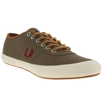 Fred Perry Khaki Woodford Trainers