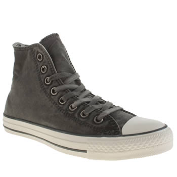 Converse Dark Grey Better Wash Hi Trainers