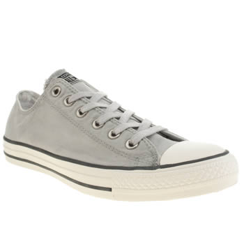 Mens Converse Light Grey Better Wash Oxford Trainers