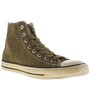 Mens Converse Khaki Chuck Taylor All Star Back Zip Trainers