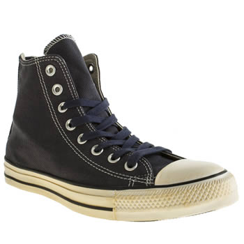 Converse Navy Chuck Taylor All Star Back Zip Trainers