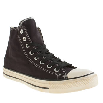 Mens Converse Black Chuck Taylor All Star Back Zip Trainers