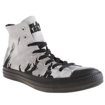Converse Black & White Black Sabbath Ozzy Trainers