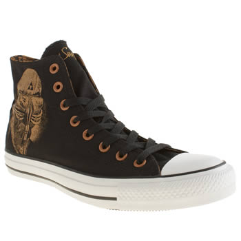 Converse Black & Brown Black Sabbath Never Say Die Trainers