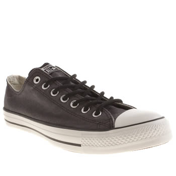 Mens Converse Dark Grey Basic Wash Trainers
