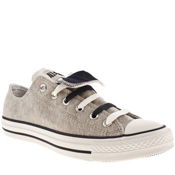 mens converse grey & navy all star double tongue trainers