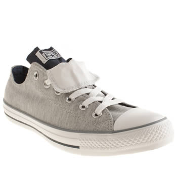 Converse Light Grey All Star Double Tongue Trainers