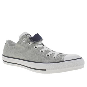 Converse Grey & Navy Chuck Taylor Ox Double Tongue Trainers