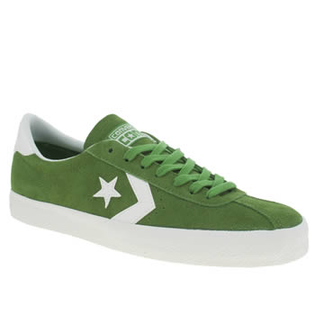 Mens Converse White & Green Break Point Trainers