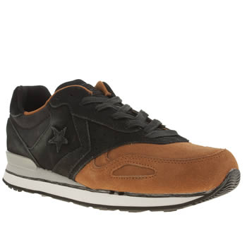 mens converse black malden racer trainers