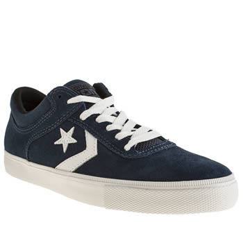 Converse Navy & White Aero Trainers