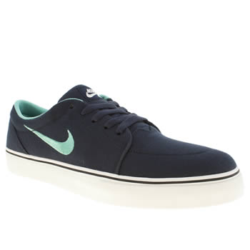 Mens Nike Skateboarding Navy Satire Trainers
