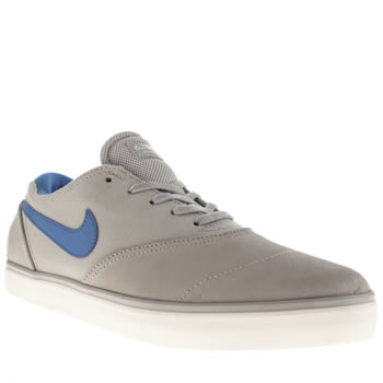 mens nike skateboarding light grey eric koston 2 trainers