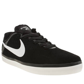 Mens Nike Skateboarding Black & White Citadel Lr Trainers