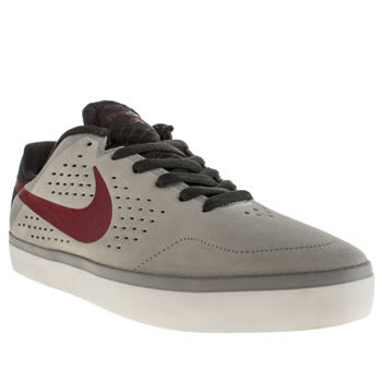 mens nike skateboarding grey citadel lr trainers