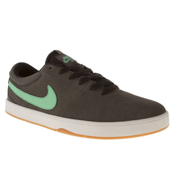 mens nike skateboarding dark grey rabona trainers
