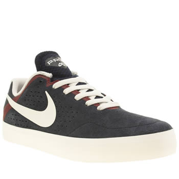 Mens Nike Skateboarding Navy & Red Paul Rodriguez Citadel Trainers