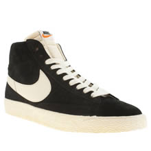 Black & White Nike Blazer High Suede Vintage