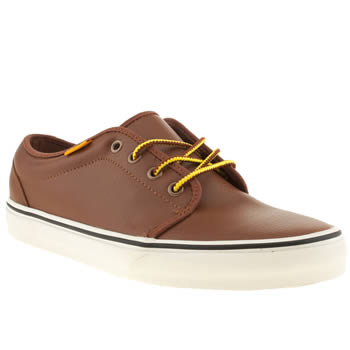 Mens Vans Tan 106 Vulc Trainers