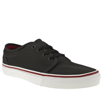 mens vans grey & black 106 vulc trainers