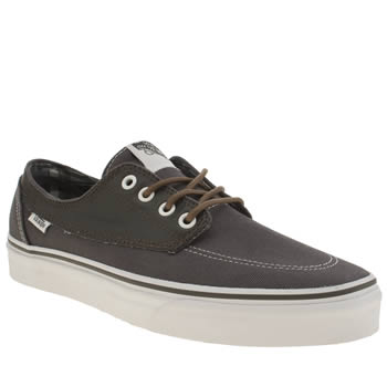Mens Vans Dark Grey Brigata Trainers