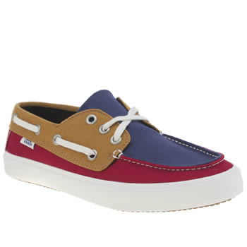 Vans Navy & Red Chauffeur 2-0 Tri Tone Trainers
