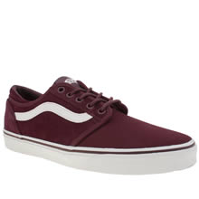 Vans Burgundy Cordova Mens Trainers