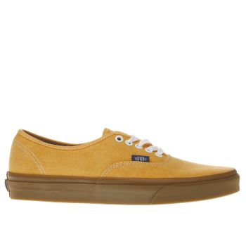 Vans Orange Authentic Trainers