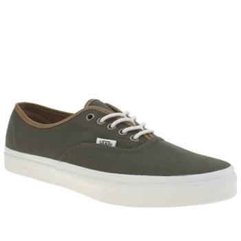 Mens Vans Green Authentic Trainers