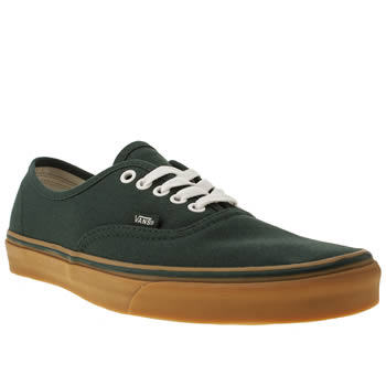 mens vans dark green authentic trainers