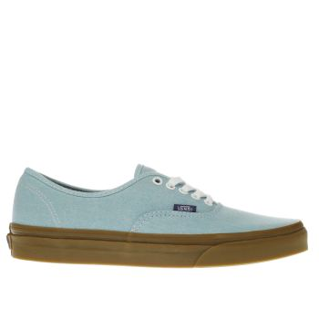 VANS FADED TURQUOISE AUTHENTIC TRAINERS
