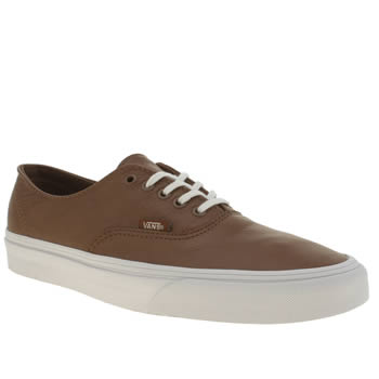 Mens Vans Tan Authentic Decon Trainers