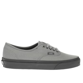 VANS LIGHT GREY AUTHENTIC TRAINERS