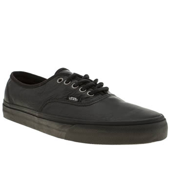 mens vans black authentic trainers
