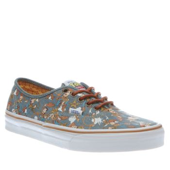 Vans Pale Blue Authentic Toy Story Woody Mens Trainers