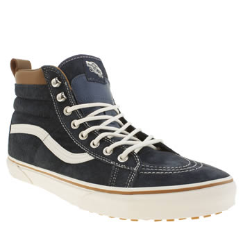 mens vans navy sk8-hi mountain edition trainers