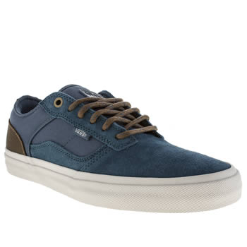 Mens Vans Blue Bedford Low Trainers