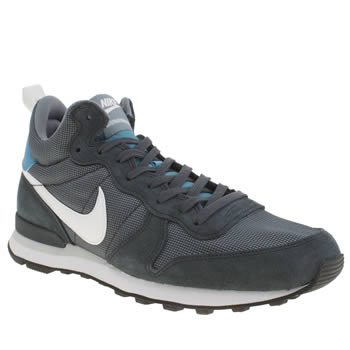 Mens Nike Navy Internationalist Mid Trainers
