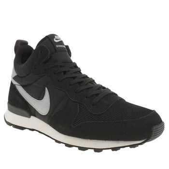 Mens Nike Black & Grey Internationalist Mid Trainers