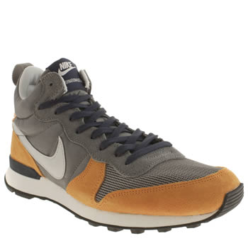 Mens Nike Grey Internationalist Mid Trainers