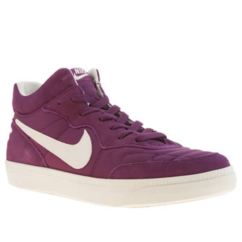 Mens Nike Purple Tiempo Mid Trainers