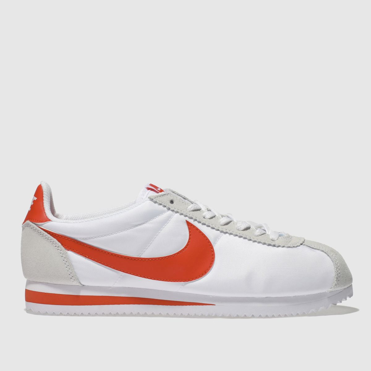 Nike White & Red Classic Cortez Trainers