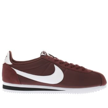 Nike Burgundy Classic Cortez Mens Trainers