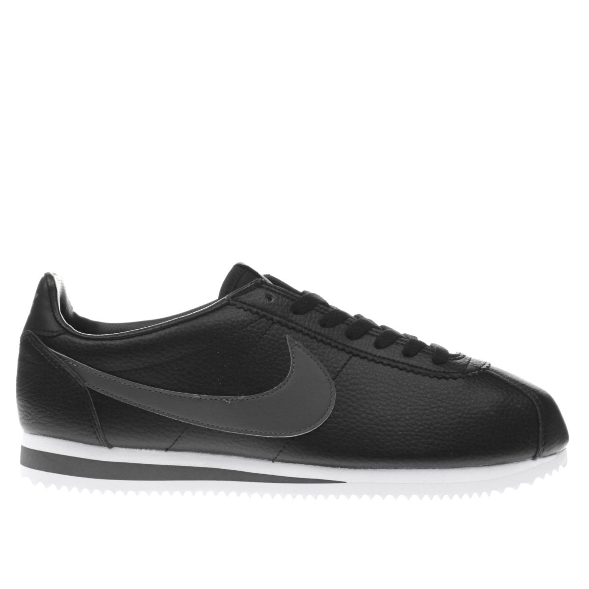 nike cortez black leather shoes graysands co uk