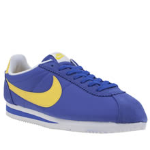Nike Blue & Yellow Classic Cortez Mens Trainers