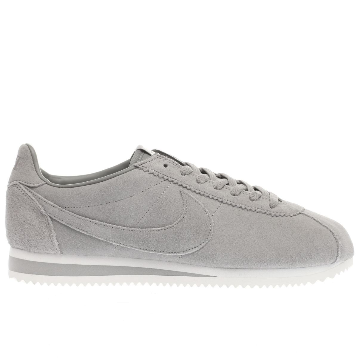 nike light grey classic cortez se trainers