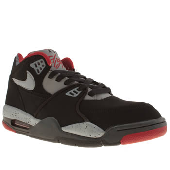 mens nike black & grey flight 89 trainers