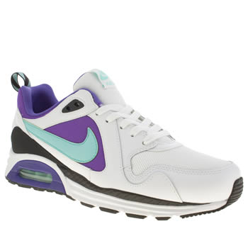 Mens Nike White & Purple Air Max Trax Trainers